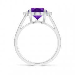 Toggle Pear Amethyst Ring with Triple Diamond Accents