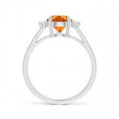 Toggle Pear Citrine Ring with Triple Diamond Accents