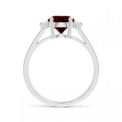 Toggle Pear Garnet Ring with Triple Diamond Accents