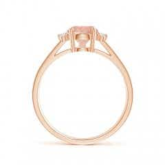 Toggle Pear Morganite Ring with Triple Diamond Accents
