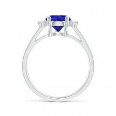 Toggle Pear Tanzanite Ring with Triple Diamond Accents