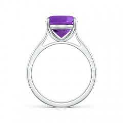 Toggle Classic Cushion Amethyst Solitaire Ring