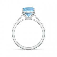 Toggle Classic Cushion Aquamarine Solitaire Ring