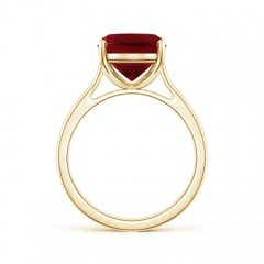 Toggle Classic Cushion Garnet Solitaire Ring