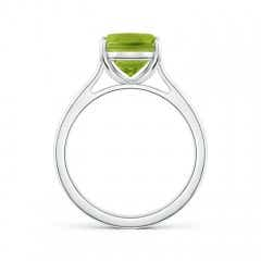 Toggle Classic Cushion Peridot Solitaire Ring