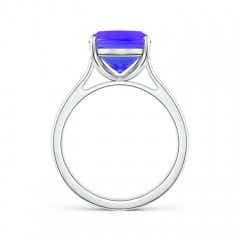 Toggle Classic Cushion Tanzanite Solitaire Ring