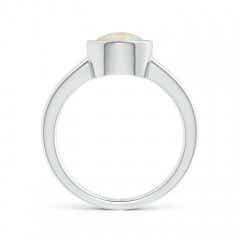 Toggle Bezel-Set Round Opal Solitaire Engagement Ring