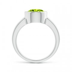 Toggle Bezel-Set Round Peridot Solitaire Engagement Ring