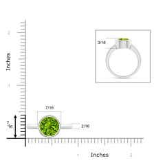Bezel-Set Round Peridot Solitaire Engagement Ring