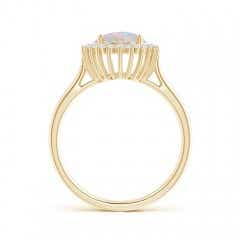 Toggle Classic Oval Opal Floral Halo Ring