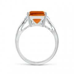 Toggle Twist Shank Emerald Cut Citrine Statement Ring