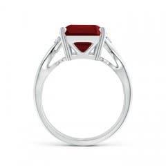 Twist Shank Emerald Cut Garnet Statement Ring