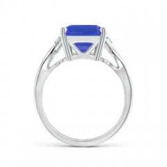 Toggle Twist Shank Emerald Cut Tanzanite Statement Ring