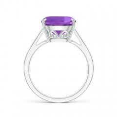Toggle Vintage Inspired Solitaire Cushion Amethyst Cocktail Ring
