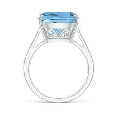 Toggle Vintage Style Cushion Aquamarine Cocktail Ring