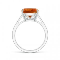Toggle Vintage Inspired Solitaire Cushion Citrine Cocktail Ring