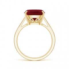 Toggle Vintage Inspired Solitaire Cushion Garnet Cocktail Ring