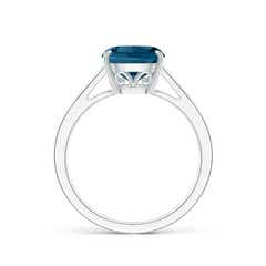 Toggle Vintage Inspired Cushion London Blue Topaz Cocktail Ring