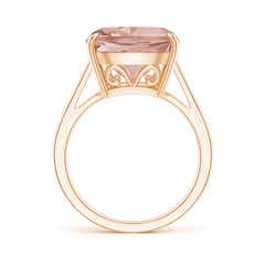 Toggle Vintage Inspired Solitaire Cushion Morganite Cocktail Ring