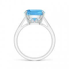 Toggle Vintage Inspired Cushion Swiss Blue Topaz Cocktail Ring