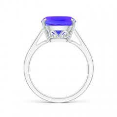 Toggle Vintage Inspired Solitaire Cushion Tanzanite Cocktail Ring