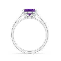 Toggle Oval Solitaire Amethyst Cocktail Ring