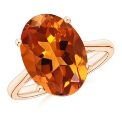 Prong Set Oval Citrine Cocktail Ring