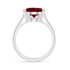 Toggle Oval Solitaire Garnet Cocktail Ring