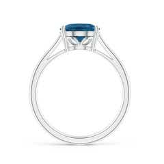 Toggle Oval Solitaire London Blue Topaz Cocktail Ring