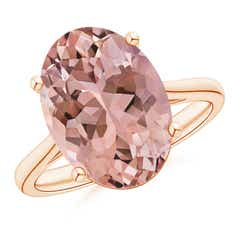 Solitaire Oval Morganite Cocktail Ring