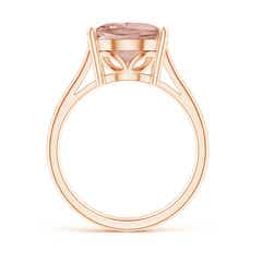 Toggle Oval Solitaire Morganite Cocktail Ring