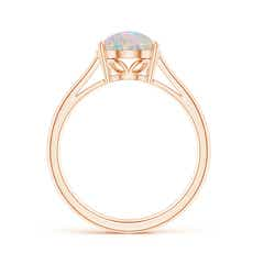 Toggle Oval Solitaire Opal Cocktail Ring