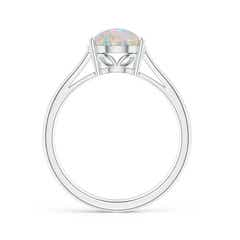 Classic Prong Set Solitaire Oval Opal Cocktail Ring