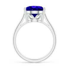 Toggle GIA Certified Oval Solitaire Tanzanite Cocktail Ring