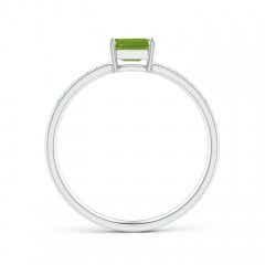 Toggle East-West Emerald-Cut Peridot Solitaire Ring