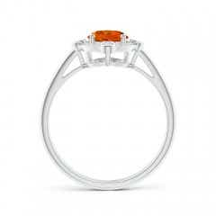 Toggle Deco Inspired Oval Citrine and Diamond Halo Ring