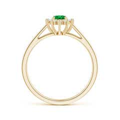 Toggle Princess Diana Inspired Emerald Halo Split Shank Ring