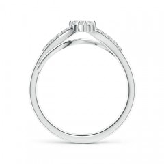 Toggle Classic Two Stone Diamond Bypass Split Shank Ring