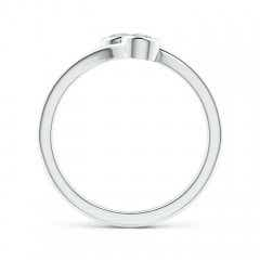 Toggle Bezel-Set Round Diamond Two Stone Bypass Ring