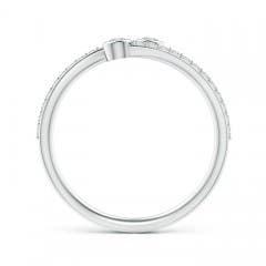 Toggle Bezel-Set Double Diamond Bypass Ring