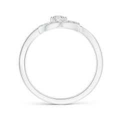 Toggle Open Heart Round Diamond Bypass Promise Ring