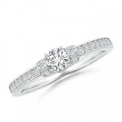 Prong-Set Round Diamond Engagement Ring