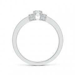 Toggle Prong-Set Round Diamond Engagement Ring