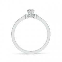 Toggle Solitaire Round Diamond Promise Ring with Diamond Accents