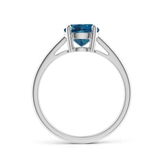 Toggle Classic Prong-Set Round London Blue Topaz Solitaire Ring