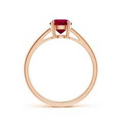 Toggle Classic Prong-Set GIA Certified Round Ruby Solitaire Ring