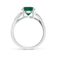 Toggle Solitaire GIA Certified Emerald Twisted Split Shank Ring