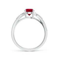 Toggle Solitaire GIA Certified Ruby Twisted Split Shank Ring