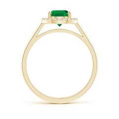 Toggle Pear-Shaped GIA Certified Emerald Halo Ring