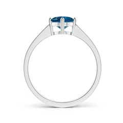 Toggle Reverse Tapered Shank London Blue Topaz Solitaire Ring